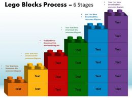 Lego Blocks Process 6 Stages Style 1 Powerpoint Slides And Ppt Templates 0412