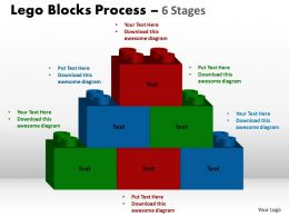 Lego Blocks Process 6 stages Style 2 Powerpoint Slides And Ppt Templates 0412