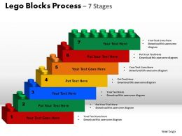 Lego Blocks Process 7 Stages Powerpoint Slides