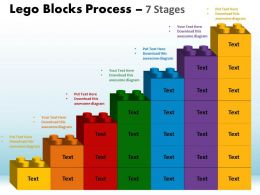 Lego Blocks Process 7 Stages Style 1 Powerpoint Slides And Ppt Templates 0412