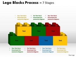 Lego Blocks Process 7 stages Style 2 Powerpoint Slides And Ppt Templates 0412