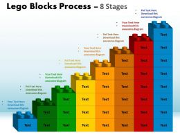 Lego Blocks Process 8 Stages Style 1 Powerpoint Slides And Ppt Templates 0412 1