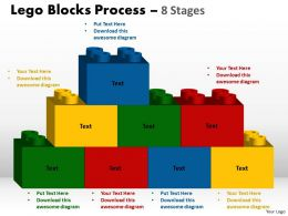 Lego Blocks Process 8 stages Style 2 Powerpoint Slides And Ppt Templates 0412 2