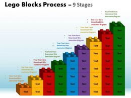 Lego Blocks Process 9 Stages Style 1 Powerpoint Slides And Ppt Templates 0412 5