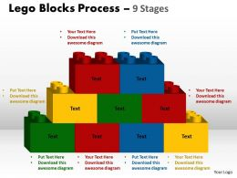 Lego Blocks Process 9 stages Style 2 Powerpoint Slides And Ppt Templates 0412 8