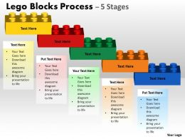 Lego Blocks Process With 5 Stages