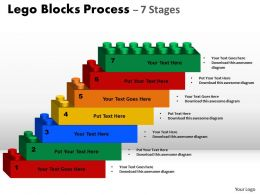 Lego Blocks Process With 7 Stages For Sales