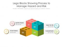 Lego Blocks Showing Process To Manage Hazard And Risk
