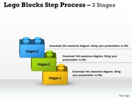 Lego Blocks Step Process 3 Stages