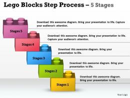 Lego Blocks Step Process 5 Stages