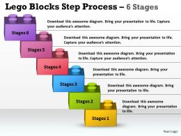Lego Blocks Step Process 6 Stages