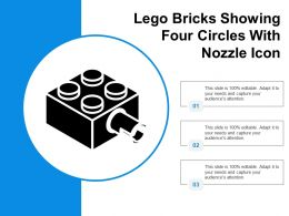 Lego Bricks Showing Four Circles With Nozzle Icon