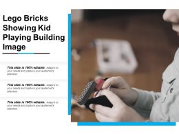 Lego Bricks Showing Kid Playing Building Image