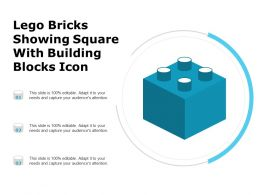 Lego Bricks Showing Square With Building Blocks Icon
