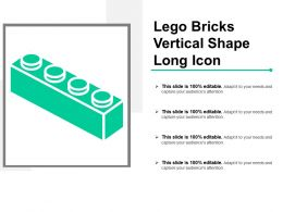 Lego Bricks Vertical Shape Long Icon