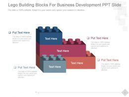 Lego Building Blocks For Business Development Ppt Slide