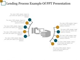 Lending Process Example Of Ppt Presentation