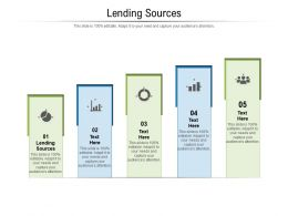 Lending Sources Ppt Powerpoint Presentation Summary Background Images Cpb