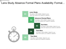 Lens Study Absence Formal Plans Availability Formal Plans Cpb