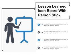 Lesson Learned Icon Board With Person Stick