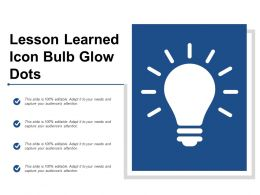 Lesson Learned Icon Bulb Glow Dots
