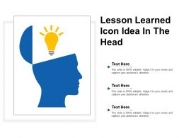 Lesson Learned Icon In The Head