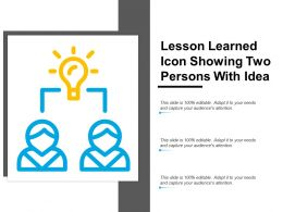 Lesson Learned Icon Showing Two Person With Idea