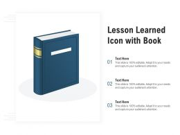 Lesson Learned Icon With Book