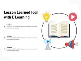 Lesson Learned Icon With E Learning