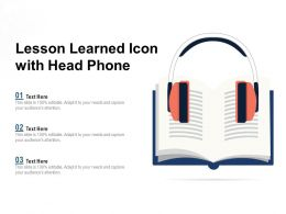 Lesson Learned Icon With Head Phone