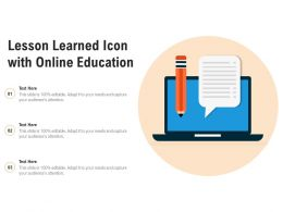 Lesson Learned Icon With Online Education