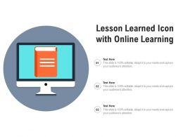 Lesson Learned Icon With Online Learning