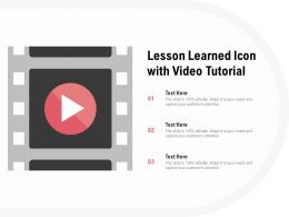 Lesson Learned Icon With Video Tutorial