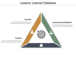 Lessons Learned Database Ppt Powerpoint Presentation Ideas Gallery Cpb