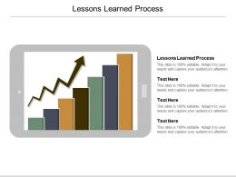 Lessons Learned Process Ppt Powerpoint Presentation Ideas Icon Cpb
