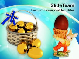 Lets Celebrate Easter With Eggs Powerpoint Templates Ppt Themes And Graphics 0313