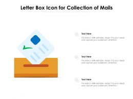 Letter Box Icon For Collection Of Mails