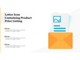 Letter Icon Containing Product Price Listing