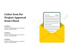 Letter Icon For Project Approval From Client