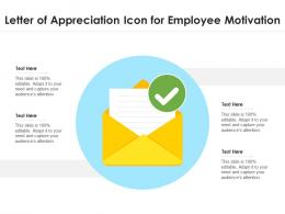 Letter Of Appreciation Icon For Employee Motivation