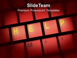 Letters Of Help On Red Keyboard Powerpoint Templates Ppt Themes And Graphics 0113