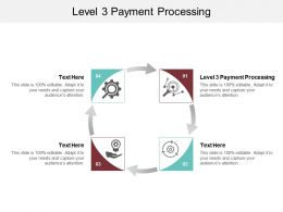 Level 3 Payment Processing Ppt Powerpoint Presentation Ideas Slideshow Cpb