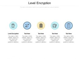 Level Encryption Ppt Powerpoint Presentation Ideas Graphics Download Cpb