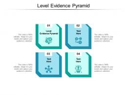 Level Evidence Pyramid Ppt Powerpoint Presentation Layouts Elements Cpb