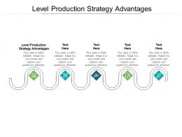 Level Production Strategy Advantages Ppt Powerpoint Presentation Pictures Visuals Cpb