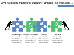 Level Strategies Managerial Decisions Strategic Implementation Corporate Weaknesses