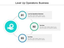 Level Up Operations Business Ppt Powerpoint Presentation Outline Mockup Cpb