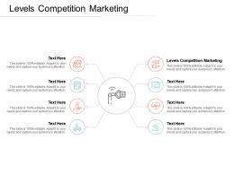 Levels Competition Marketing Ppt Powerpoint Presentation Portfolio Elements Cpb