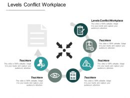 Levels Conflict Workplace Ppt Powerpoint Presentation Portfolio Design Templates Cpb