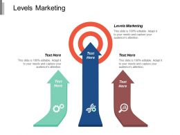 Levels Marketing Ppt Powerpoint Presentation Gallery Infographics Cpb